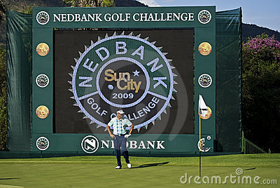 Robert Allenby - sfida 2009 di golf di Nedbank Immagine Editoriale