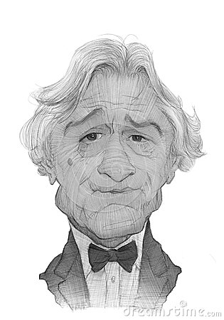 Robert De Niro Caricature Sketch Stock Photography - Image: 28246192