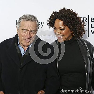 Robert De Niro and Grace Hightower Editorial Photo