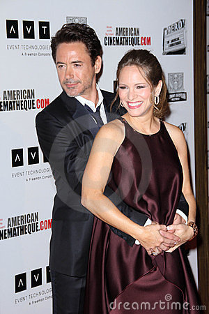 Robert Downey Jr, Robert Downey Jr., Robert Downey, Jr., Susan Downey Editorial Photo