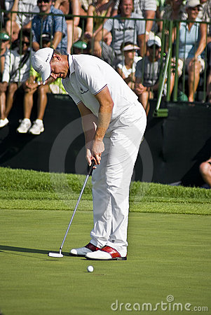 Robert Karlsson Final Putt - 18th - NCG2008 Editorial Stock Photo