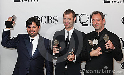Robert Lopez, Matt Stone, and Trey Parker Editorial Image