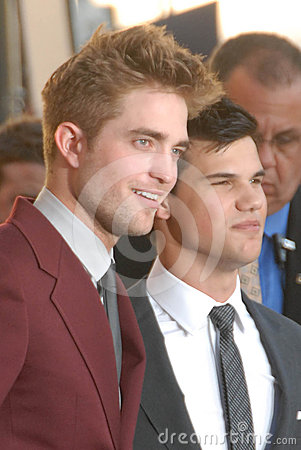 Robert Pattinson,Taylor Lautner Editorial Stock Photo