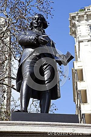 Robert Raikes Statue in London Editorial Image