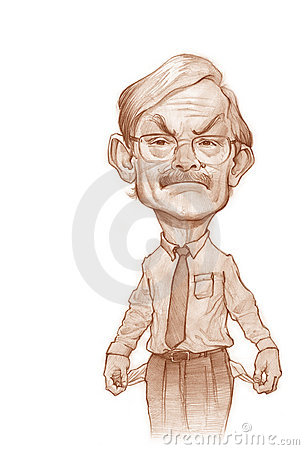 Robert Zoelick caricature sketch Editorial Stock Image