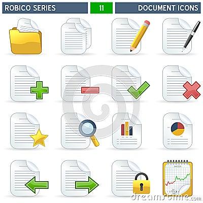 σειρά robico εικονιδίων εγγρά&phi