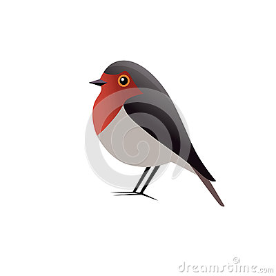 Free Robin Bird Vector Clipart Royalty Free Stock Photo - 73475385