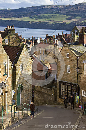 Robin Hoods Bay - Yorkshire Coast - England Editorial Photography