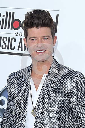 Robin Thicke arrives at the 2012 Billboard Awards Editorial Stock Photo