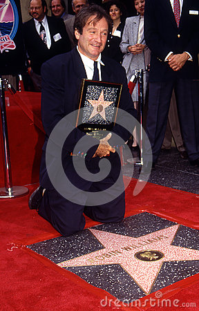 Robin Williams on Walk of Fame Editorial Photo