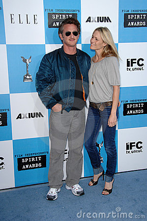 Robin Wright Penn, Sean Penn Editorial Photo