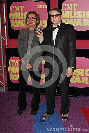 Robin Zander, Rick Nielsen at the 2012 CMT Music Awards, Bridgestone Arena, Nashville, TN 06-06-12 Editorial Stock Photo