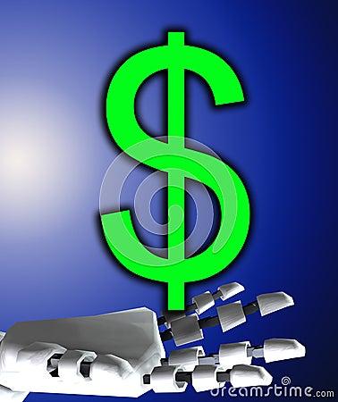Robo Hand And Dollar
