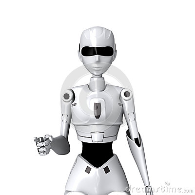Free Robot And You Pose Royalty Free Stock Photos - 45196198