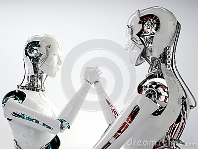 Robot android men competition
