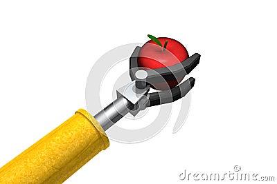 Robot Apple for the teacher
