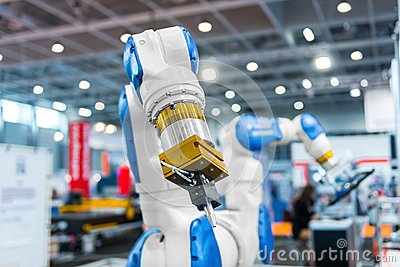 Robot arm in a factory