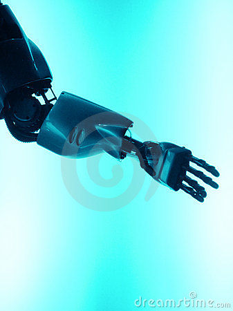 Free Robot Arm - Let S Shake Hands Stock Images - 7201674