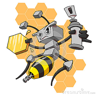 Robot Bee Stock Photos - Image: 24706143
