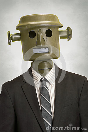 Robot business person