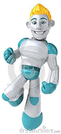 Robot - 3D Illustration Stock Photo