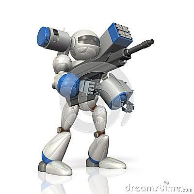 Robot de combat sur la science-fiction