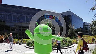 Robot de Google Android banque de vidéos