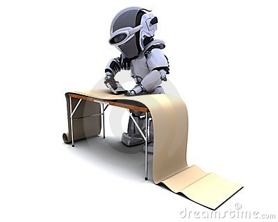 Robot decorating with wallpaper