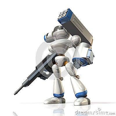 Robot del combate en la ciencia ficción