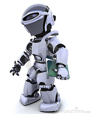 Robot with document folder