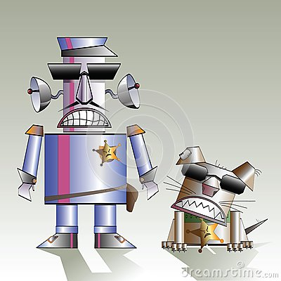 Robot and the dog