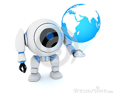 Robot and earth