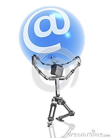 Robot en Internet teken