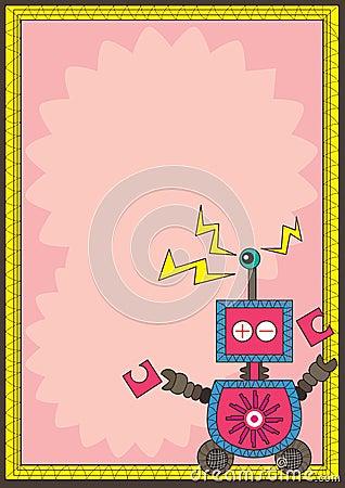 Robot Eye Detect Frame Card_eps