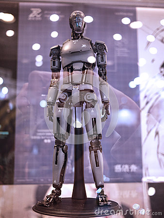 Free Robot Figure In TOY SOUL 2015 In Hong Kong Stock Images - 63921224