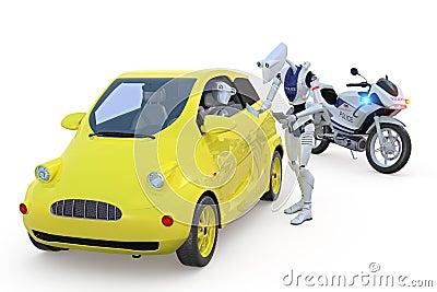 Robot Getting a Speeding Ticket