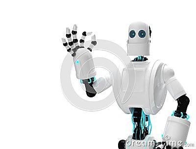 Robot and giving ok