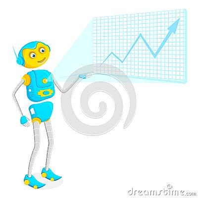Robot giving Presentation