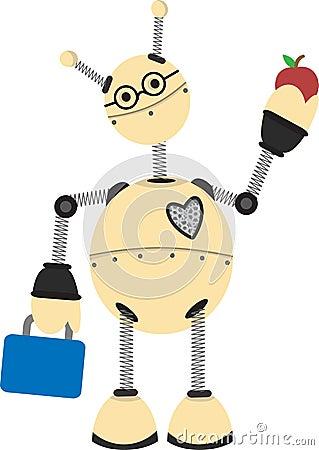 Robot going to school