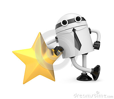Robot with gold star