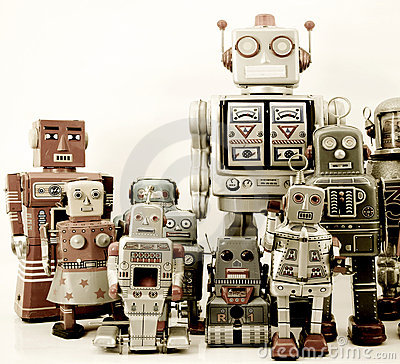 Free Robot Group Stock Images - 16191164