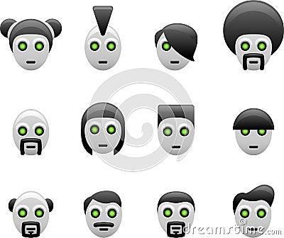 Robot hair styles