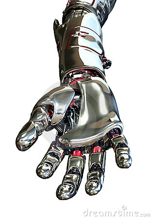 Robot Hand Reaching Forward