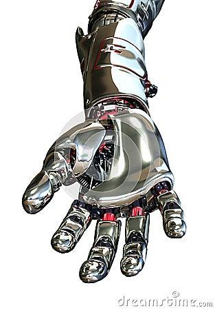 Robot Hand Reaching Forward