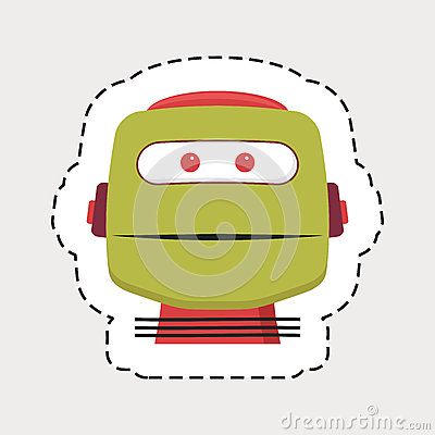 Robot head Vector Illustration