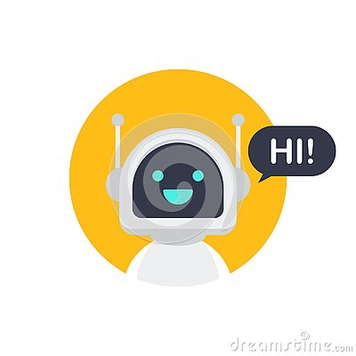 Free Robot Icon. Bot Sign Design. Chatbot Symbol Concept. Voice Support Service Bot. Online Support Bot. Vector Illustration. Stock Photo - 130663630