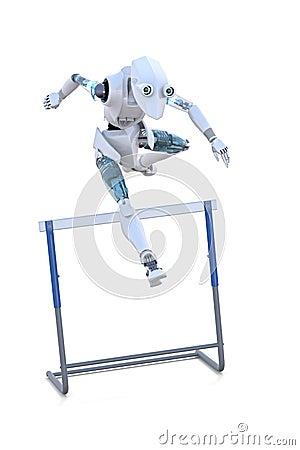 Robot Jumping Hurdle