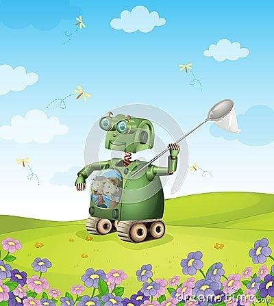 Robot and kids