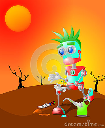 Robot and the last plant