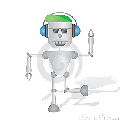 Robot listening to music